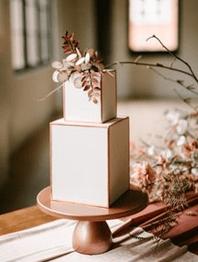 Tendencias en tartas nupciales